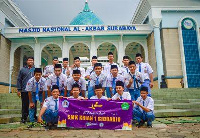 Al Banjari SMK Krian 1 Ikut Serta Menyambut Gubernur dan Wakil Gubernur Jawa Timur yangn Baru