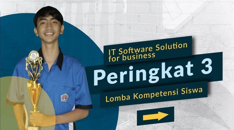 Juara 3 LKS 2021 Wilker 1 Jatim Bidang IT Software