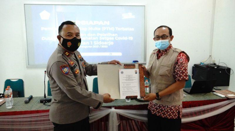 SMK Krian 1 Sidoarjo Gelar MoU dengan Satgas Covid-19, Siap PTM
